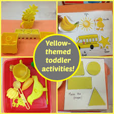 yellow color yellow themed toddler activities mumma diaries