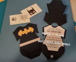 batman onesie invitation diaper raffle card custom die