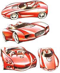 drawn ferrari car design pencil and in color drawn ferrari car