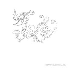 dragon stencils printable pictures free printable stencils