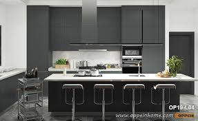modern black kitchen cabinets modern black lacquer kitchen cabinet op19 l04 oppein the