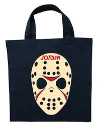 friday the 13th trick or treat bag personalized jason halloween