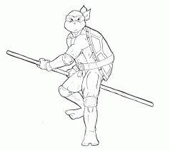 teenage mutant ninja turtles coloring pages leonardo coloring