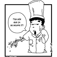 sticker cuisine sticker bd à la cuisine dessin au trait decorecebo