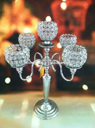 5arms tall wedding crystal globe candelabra centerpiece candle