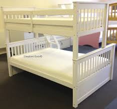 White Supersonic Wooden Double Bunk Beds With Drawers Triple Sleeper - Double bunk beds