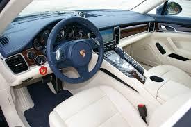 porsche panamera interior porsche panamera interior yachting blue crema autocar