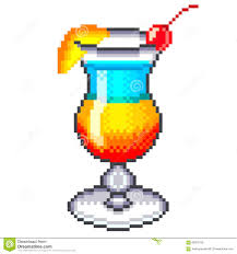 rainbow cocktail drink pixel rainbow cocktail vector stock vector image 62603136