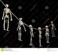 halloween background skeletons skeleton garland stock photo image 45886496