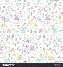 care baby shower seamless background baby shower vector illustration stock vector