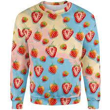strawberry sweater strawberry sweater lunafide