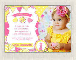 personalized pink and yellow birthday thank you card printable