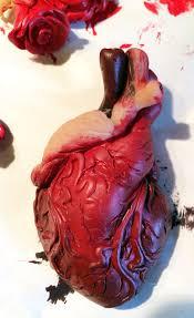 Polymer Clay Home Decor Frida Khalo Esque My Bloody Valentine Diy Human Heart U0026 Roses