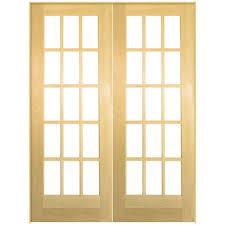 jeld wen 60 in x 80 in oak unfinished 15 lite wood prehung