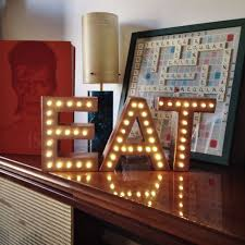 our busiest months for our letter lights for sale