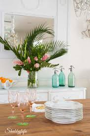 tropical decorating ideas with flowers shabbyfufu