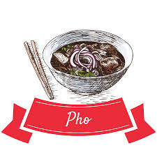 cuisine vietnamienne pho pho illustration colorée vector illustration de la cuisine