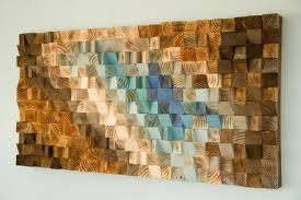 modern wood wall wood mosaic geometric