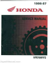 1986 1987 honda vfr700 750 motorcycle service manual
