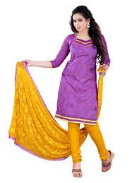 buy vandv purple banarasi jacquard churidar dress material online