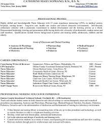 Lpn Resume Example by 100 Original Sample Resume Nursing Instructor