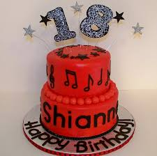 red u0026 black music themed 18th birthday cake cakecentral com