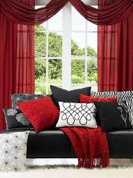 Black Sofa Pillows by Black Leather Sofa With Red Black And White Accent Pillows
