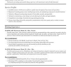 Server Resume Sample by Marvelous Design Ideas Server Resume Samples 7 Server Resume