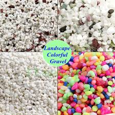 Colored Rocks For Garden Nature Snow White Gravel Aquarium Colored Fish Tank