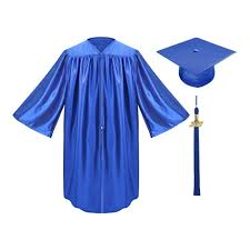 graduation cap and gowns royal blue kindergarten cap gown tassel gradshop