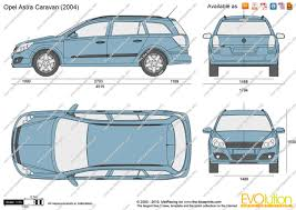 opel astra 2004 the blueprints com vector drawing opel astra h caravan