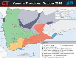 Map Of Yemen Yemen Frontlines October 2016 Critical Threats