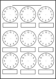 free printable blank clock faces worksheets classroom ideas