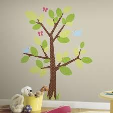 kids room green tree children room wall decor stickers naughty