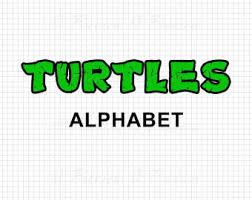 ninja turtle stencil etsy