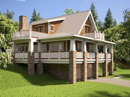 hillside house plans with walkout basement hillside house plans