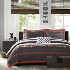 Midcentury Modern Bedding - orange and grey bedding vnproweb decoration