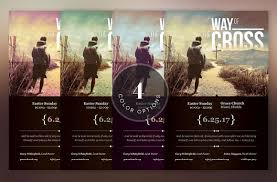 easter cantatas for church cross way easter flyer poster template on behance