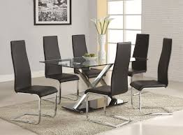 white modern dining room z shaped chairs double bar stretcher