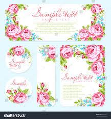 Invitation Card Designing Wedding Invitation Card Template Garden Pink Stock Vector