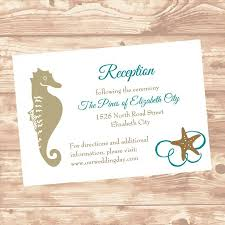Wedding Invitation Insert Cards Wedding Reception Or Information Insert Card Diy Template Seashel