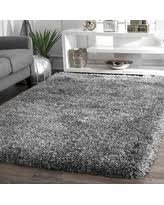 Grey Shaggy Rugs Amazing Holiday Shopping Savings On Nuloom Soft And Plush Solid