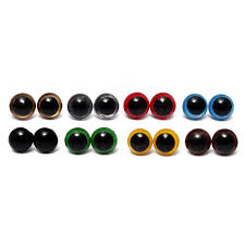 80pcs 12mm 8colors plastic safety eyes washers kids teddy bear