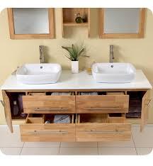 fabulous solid wood double vanity and 62 best line art teak oak