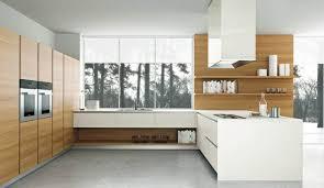 moderne k che kuche moderne wohnküche weiss mit holz schnitt auf kuche die