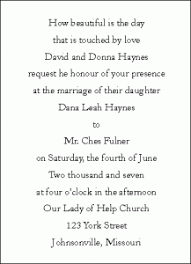 wedding ceremony invitation wording wedding invitations wording for the ceremony and for the reception