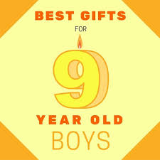 most popular birthday presents for 9 year boys