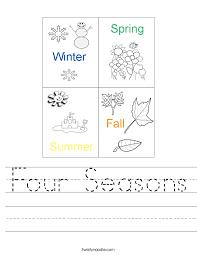 four seasons worksheet twisty noodle