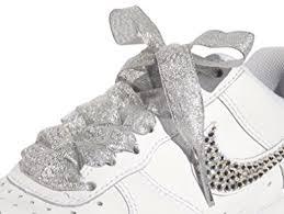 ribbon shoelaces sparkling silver flat ribbon shoelaces shoe laces