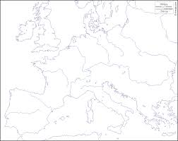 Blank Map Of Europe 1914 by Western And Central Europe Free Map Free Blank Map Free Outline